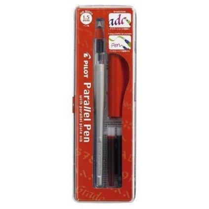Pilot, FP3-15-SS, Parallel pen, kaligrafické plnící pero, červená, hrot 1,5 mm, 1 ks