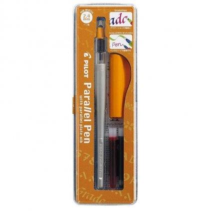 Pilot, FP3-24-SS, Parallel pen, kaligrafické plnící pero, oranžová, hrot 2,4 mm, 1 ks