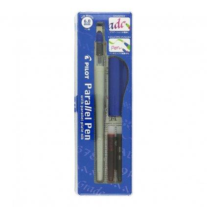 Pilot, FP3-60-SS, Parallel pen, kaligrafické plnící pero, modrá, hrot 6 mm, 1 ks