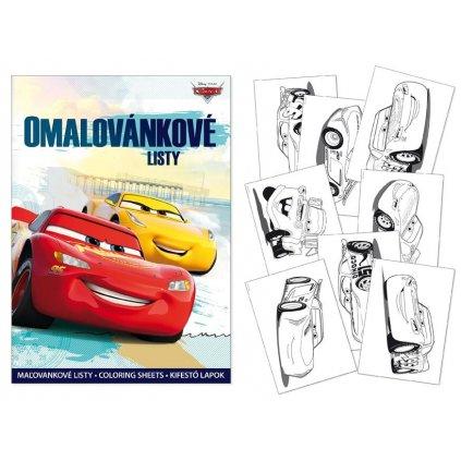 Omalovánkové listy Cars, Walt Disney