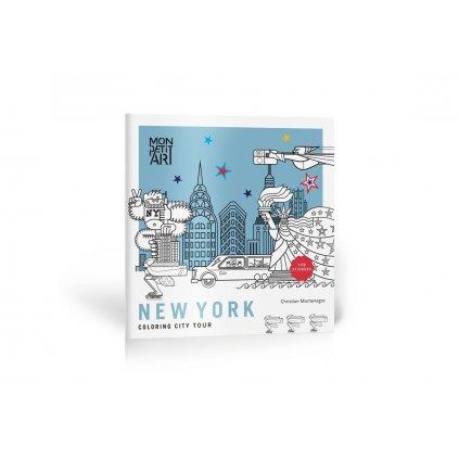 Mon Petit Art, CGOCMO1, New York, coloring city tour, omalovánkový průvodce New Yorkem