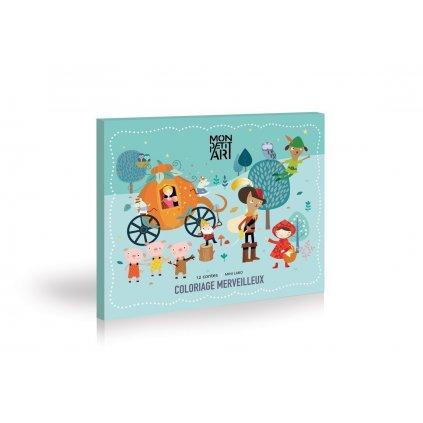 Mon Petit Art, COMMIN1, Coloriage merveilleux 12 contes, omalovánka 12 klasických pohádek