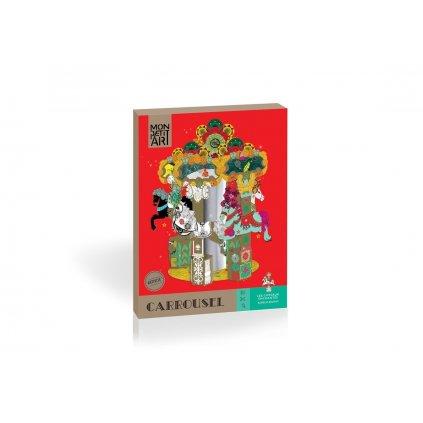 Mon Petit Art, MCMJOU2,  Carrousel - Enchanted horses, kreativní set papírový kolotoč s koníky