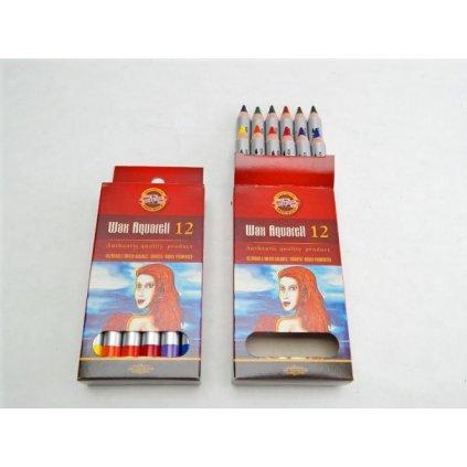 Koh-i-noor, 8282012003KS, WAX, souprava akvarelových pastelek, 12 ks