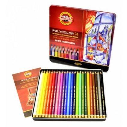 Koh-i-noor, 3824024002PL, Polycolor, souprava uměleckých pastelek, 24 ks