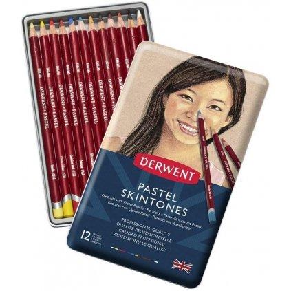 Derwent, 2300563, Pastel pencil Skintone, suchý pastel, portrét, 12 ks