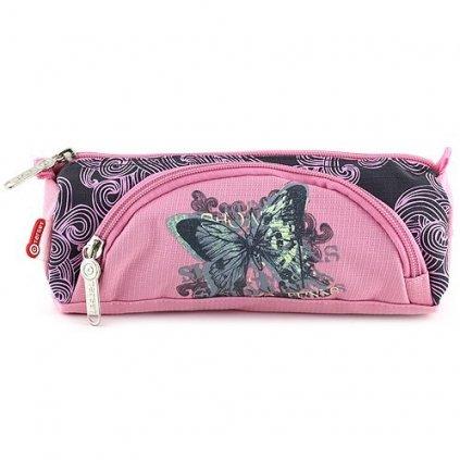 Target, 062060, školní penál s kapsičkou, motýl