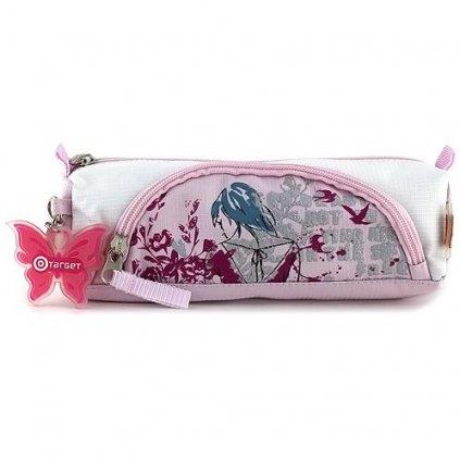 Target, 062051, školní penál s kapsičkou, dívka s květinami