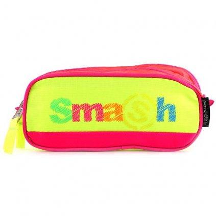 Smash, 065406, školní penál, neonově-žlutý