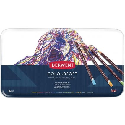 Derwent Coloursoft, 0701028, pastelky, sada 36 kusů
