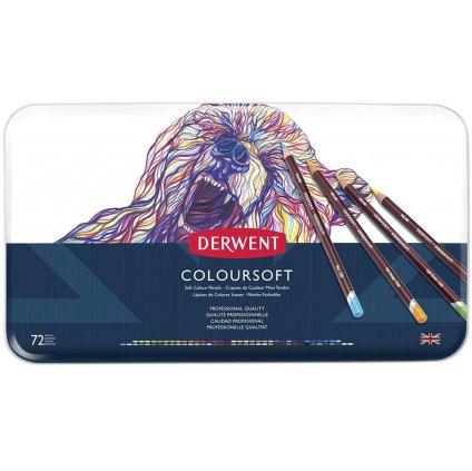 Derwent, Coloursoft, 0701029, pastelky, sada 72 ks