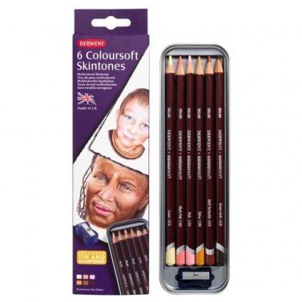 Derwent, Coloursoft Skintone, 2300217, pastelky 6 kusů