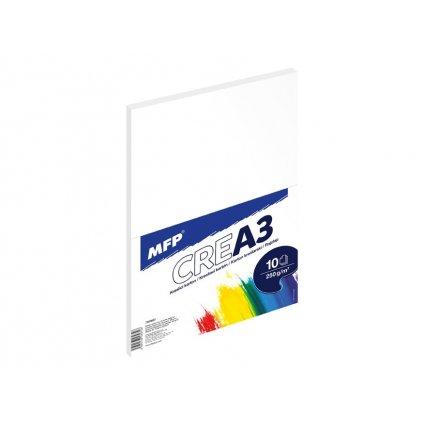 MFP, 7500687, kreslící karton, A3, 250 g, 10 listů