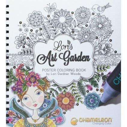 Chameleon, CC0501, Lori's Art Garden, omalovánky pro chameleon fixy, Lori Gardner Woodsové