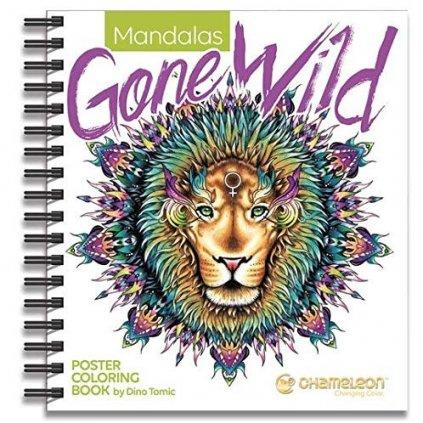 Chameleon, CC0502, Mandalas Gone Wild, omalovánky pro chameleon fixy, Dino Tomic