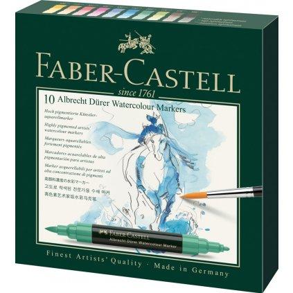 Faber-Castell, 160310, Albrecht Dürer, akvarelové popisovače, brush, 10 ks