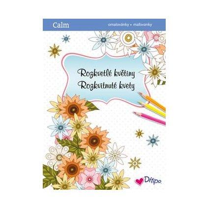 Ditipo, 7203003, antistresové omalovánky, Rozkvetlé květiny