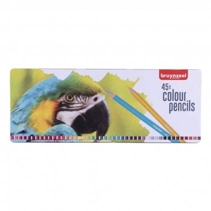 Bruynzeel, 5013M45, sada pastelek, motiv papoušek, 45 ks