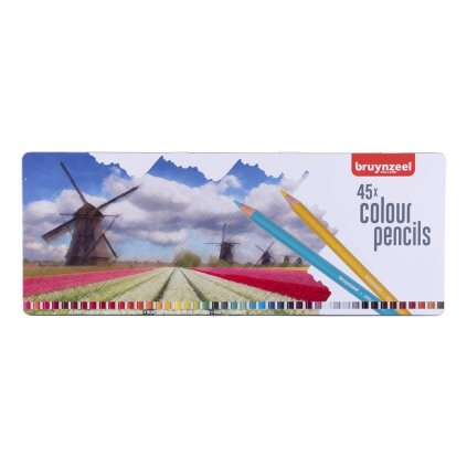 Bruynzeel, 5012M45, sada pastelek, motiv mlýn, 45 ks