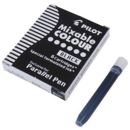 Pilot, IC-P3-S6-B, náhradní náplně do pera (bombičky), černá barva, 6 ks