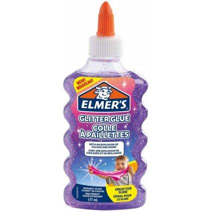 Elmer's, 2077253, lepidlo pro výrobu slizu, 177 ml, fialová