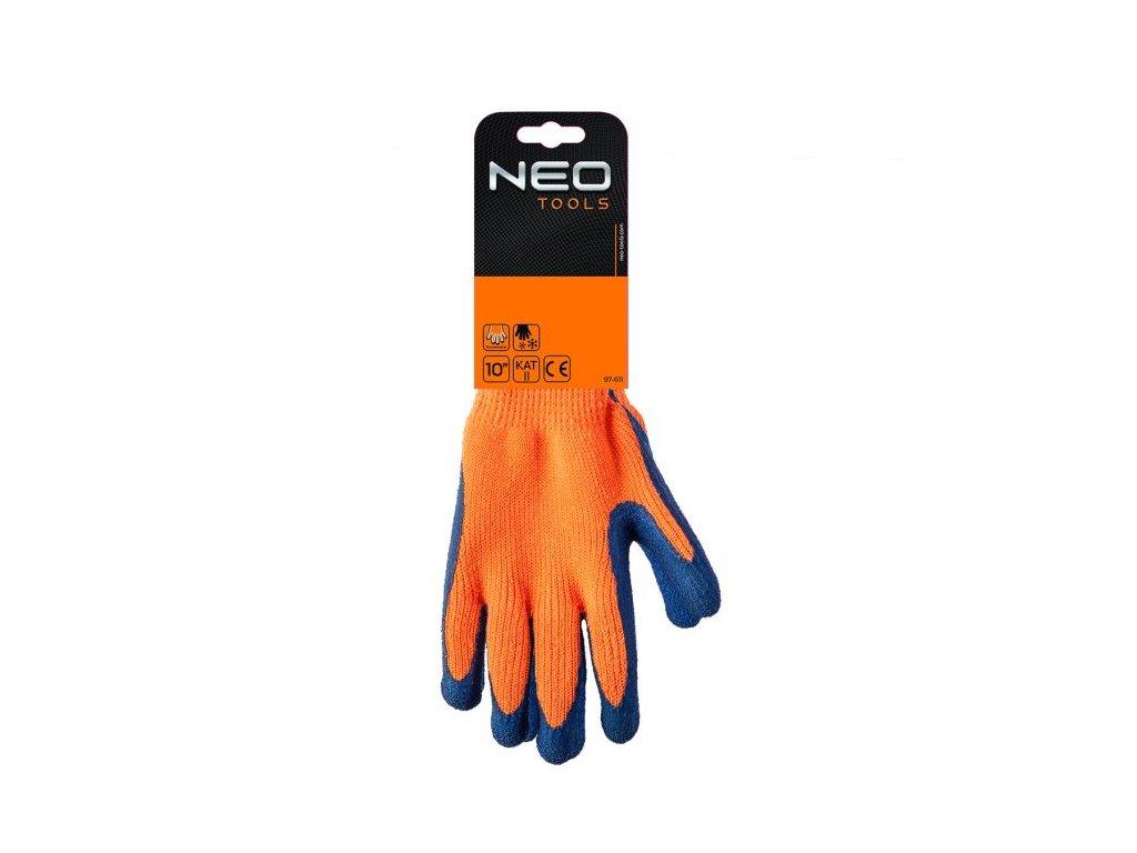 Zimní pracovní rukavice, zateplené, máčené, v. 10, 97-611 NEO TOOLS
