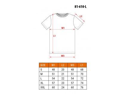 Tričko s krátkým rukávem, černé