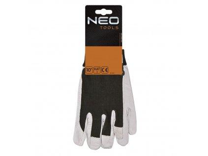 Kožené pracovní rukavice, v. 10, 97-603 NEO TOOLS