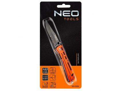 Zavírací nůž s pojistkou, 63-026 NEO TOOLS