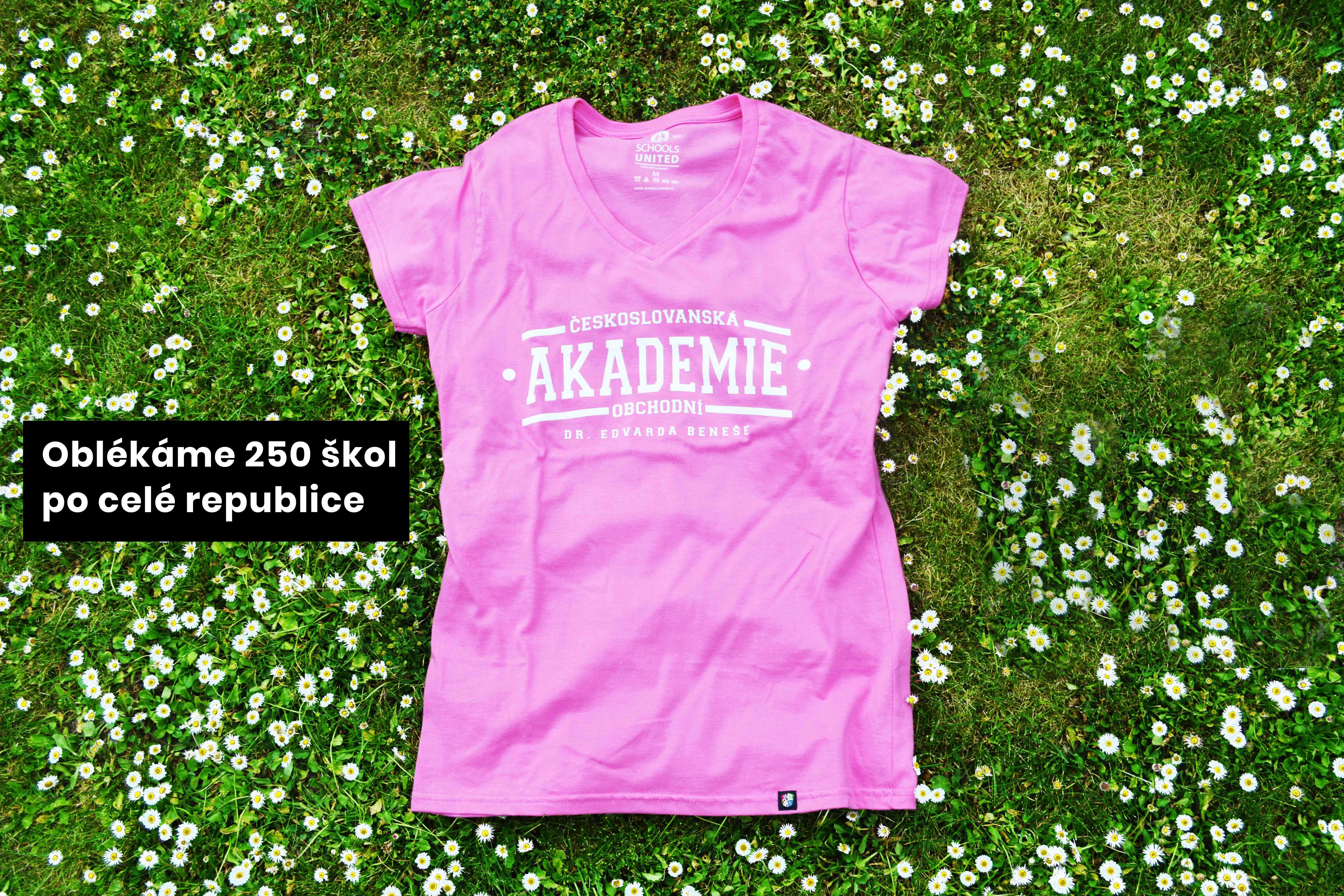 tričko pink Schools United