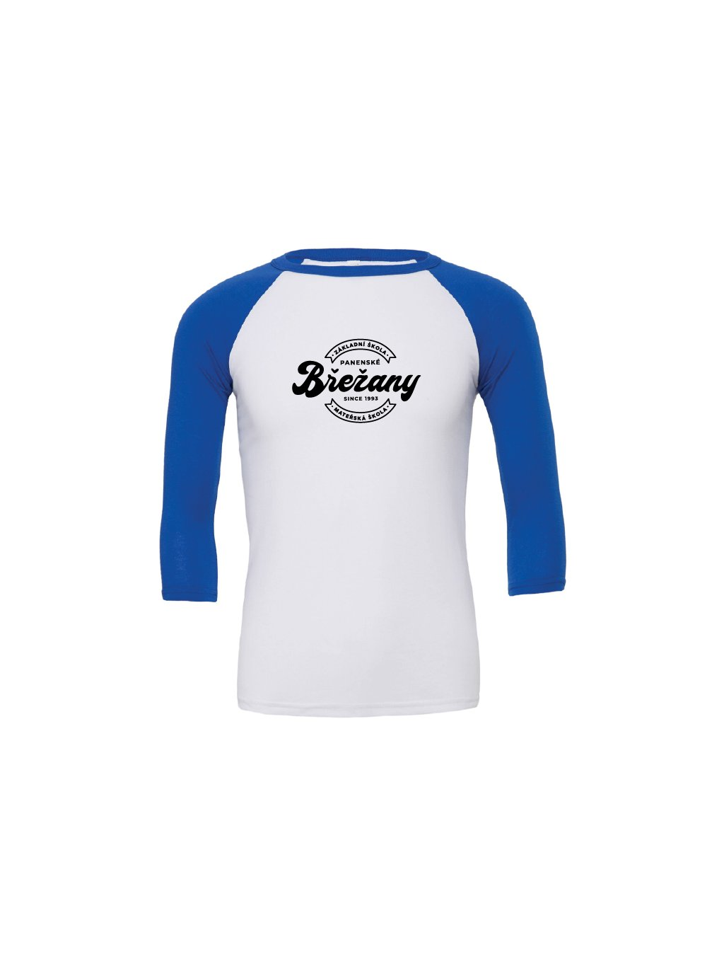 Baseball tee white royal