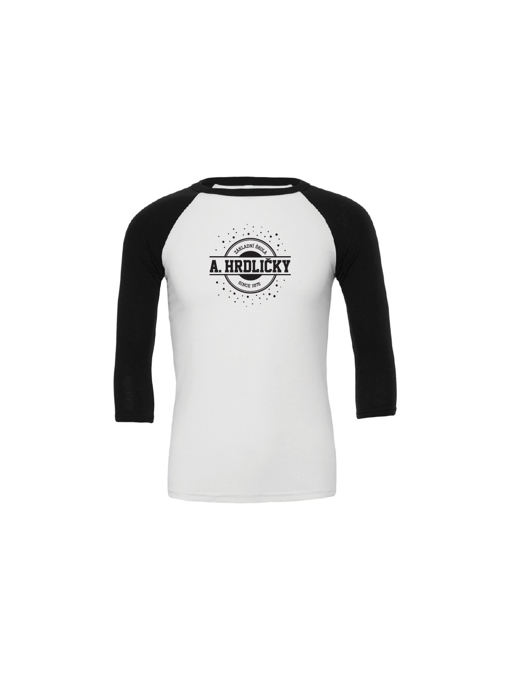 Baseball tee white black@300x