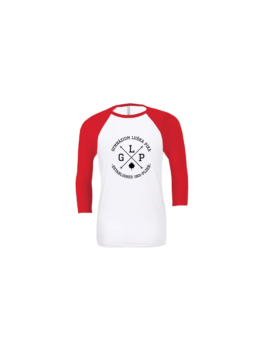 Baseball tee white red