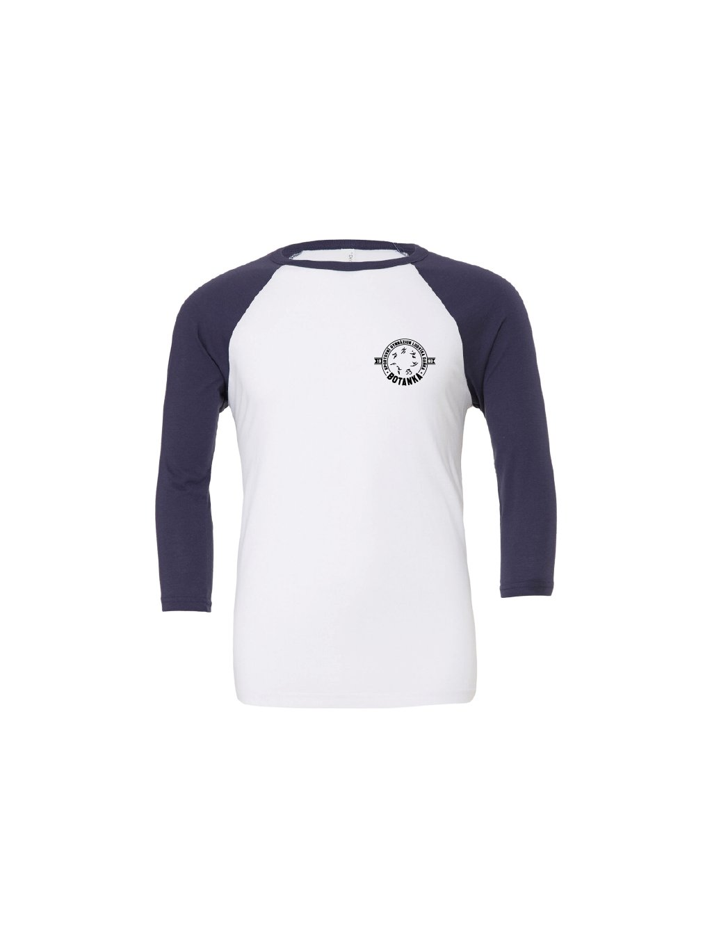 Baseball tee white navy