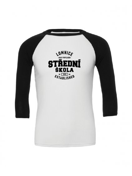 Baseball tee white black