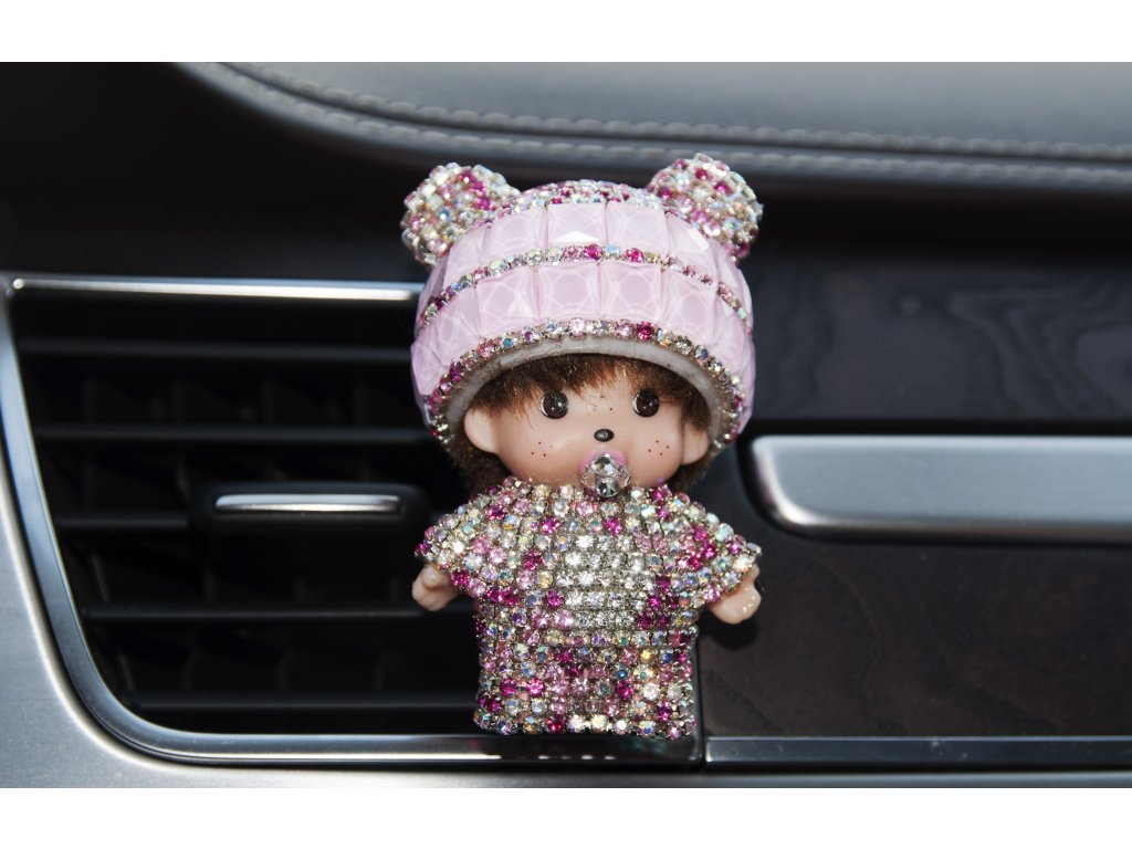Mini Poppi Panda Růžová, osvěžovač vzduchu do auta