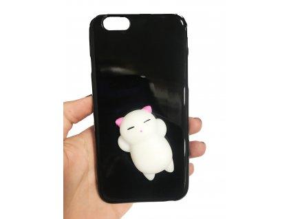 černý bílá kočka