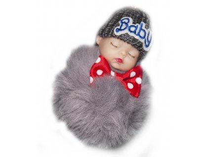 Přívěsek miminko, šedý