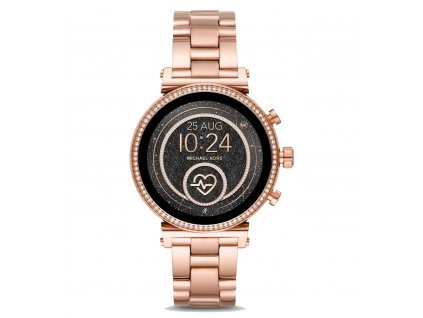 Michael Kors Access smartwatch Sofie Heart Rate Pavé MKT5063, RŮŽOVÉ