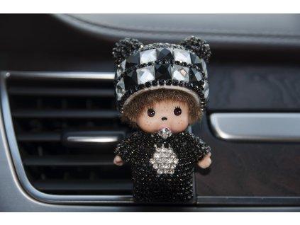 mini poppi mončičák osvěžovaž vzduchu do auta auto vůně doplněk kamínky ozdoba panenka panda