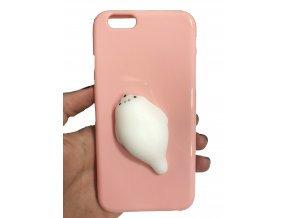 lachtan 3D kryt iphone obal pouzdro telefon mačkací gumový