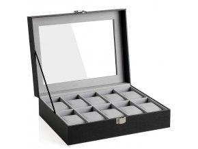 Skříňka na hodinky z umělé kůže / 10hodinek