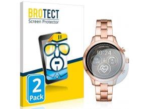Ochranné sklo, folie na chytré hodinky michael kors smartwatch runway 2pack