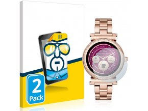 Ochranné sklo, folie na chytré hodinky michael kors smartwatch sofie pavé, 2pack