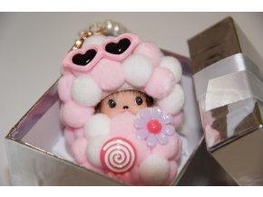 klíčenka Přívěsek MINI POPPI monchichi panenka roztomilá stylová ozdoba doplněk miminko