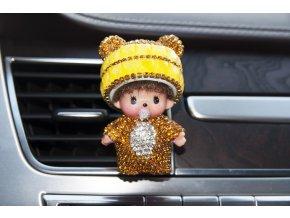 Mini Poppi Panda Žlutá, osvěžovač vzduchu do auta