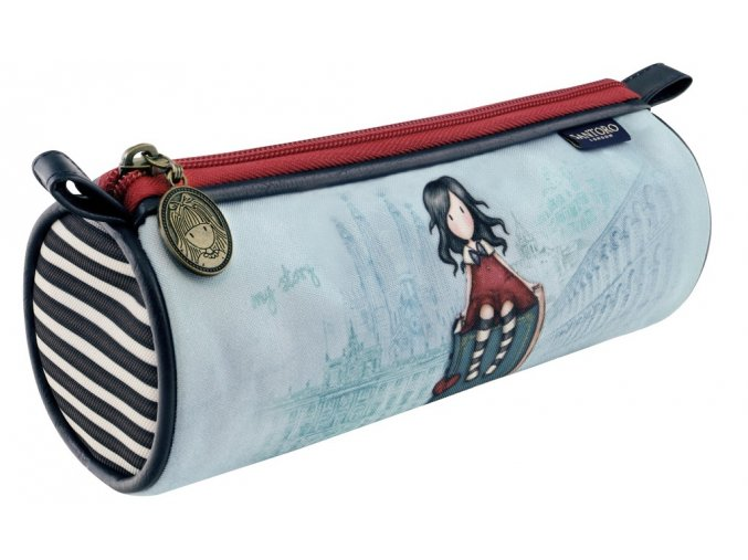 326GJ12 Gorjuss Cityscape Round Pencil Case MS 2 HR
