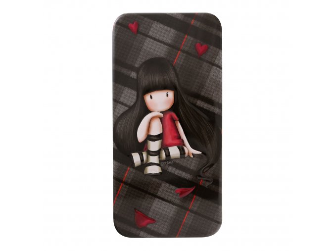 288GJ21 Gorjuss Tartan Pencil Tin The Collector 1 WR
