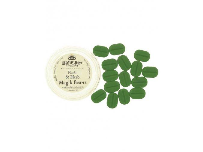 Vonné fazolky basil and herb