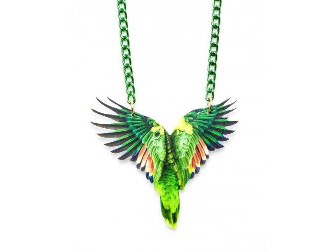 náhrdelník Papoušek zelený